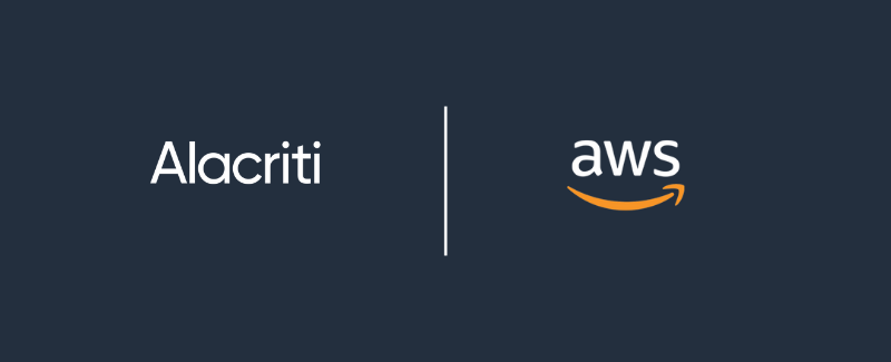Alacriti and AWS partnership logos